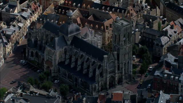 vidéos et rushes de dieppe-vue aérienne – haute-normandie seine-maritime, arrondissement de dieppe, france - protestantisme
