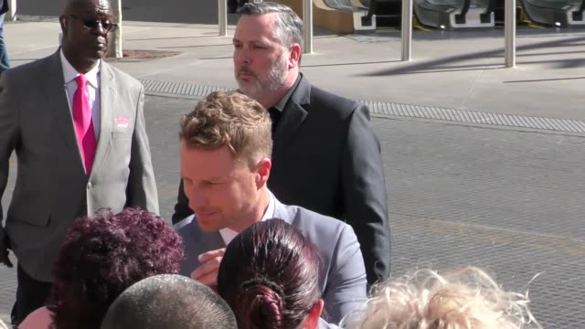 dierks bentley arriving to the 52nd academy of country music awards in celebrity sightings in las vegas - academy of country music awards stock videos & royalty-free footage