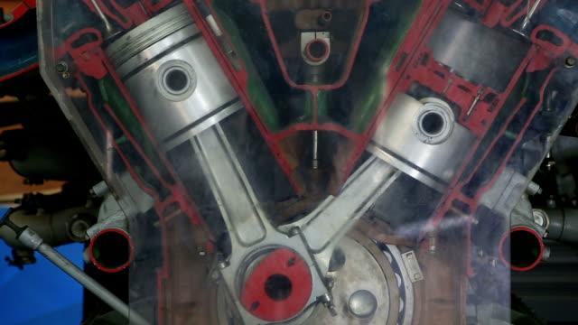 diesel engine work inside view - piston stock videos & royalty-free footage