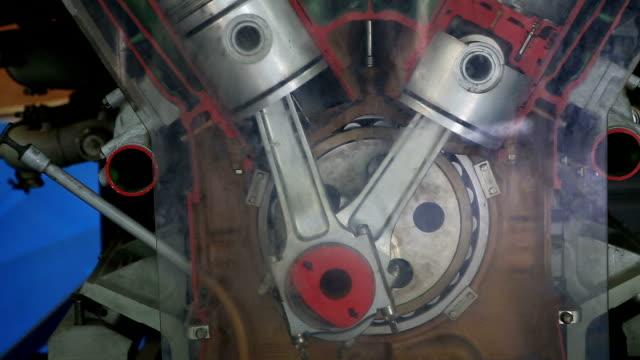 diesel engine work inside view
