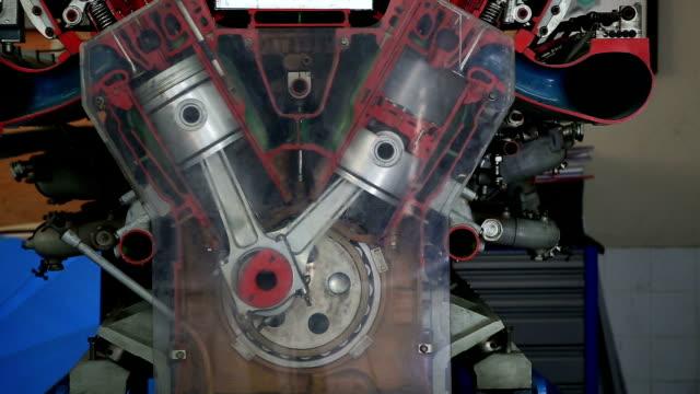 diesel engine work inside view - diesel fuel stock videos and b-roll footage