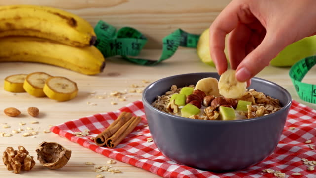 4k diet, healthy lifestyle - banana stock videos & royalty-free footage