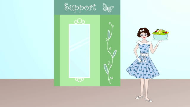 diet support retro 2 - strawberry milkshake stock videos & royalty-free footage
