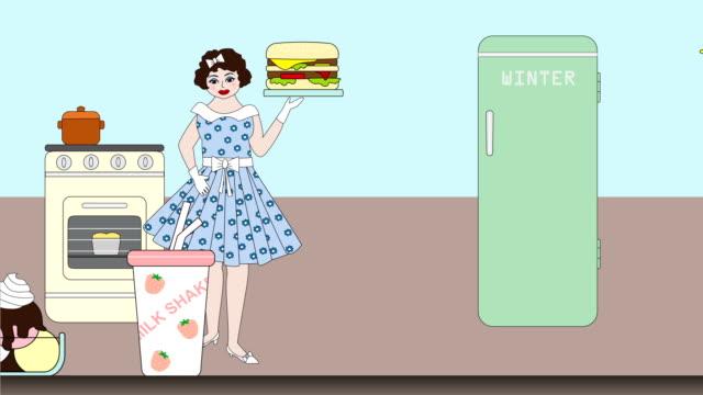 diet with healthy food - strawberry milkshake stock videos & royalty-free footage