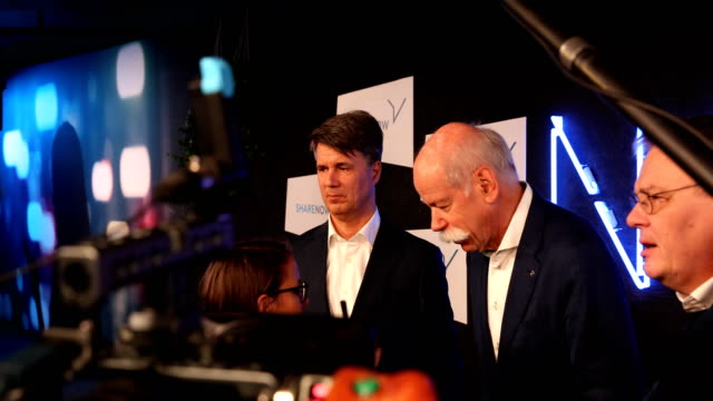 Dieter Zetsche CEO of Daimler AG and Harald Krüger CEO of BMW AG speak to the media about a new joint effort between the two automakers in carsharing...