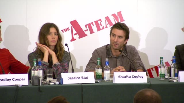 different accents on always being interested in speech drama and phonetics at the the ateam press conference at london england - contrasts stock videos and b-roll footage