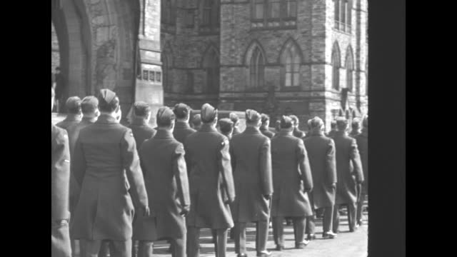 different branches of british military arrives and enters st george's chapel - british military stock videos and b-roll footage