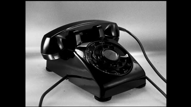 different close up views of a classic black rotary phone made by western electric - 1940 1949 stock videos & royalty-free footage
