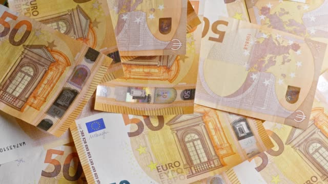 different euro-banknotes turning - banknote stock videos & royalty-free footage