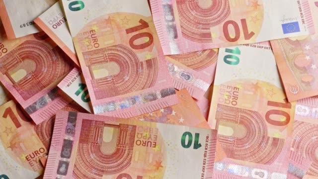 different euro-banknotes turning - euro symbol stock videos & royalty-free footage