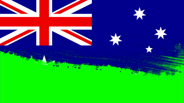4k - 3 different paint brush style transition animation with australia country flag - australian politics stock videos & royalty-free footage