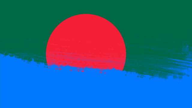 4k - 3 different paint brush style transition animation with bangladesh country flag - flag of bangladesh stock videos & royalty-free footage