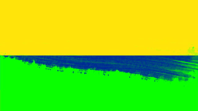 4k - 3 different paint brush style transition animation with colombia country flag - identity politics stock videos & royalty-free footage