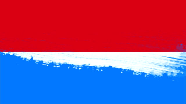4k - 3 different paint brush style transition animation with indonesia country flag - indonesia flag stock videos & royalty-free footage
