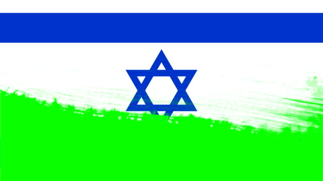 4k - 3 different paint brush style transition animation with israel  country flag - money politics stock videos & royalty-free footage