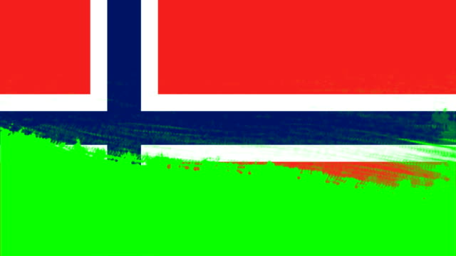 4k - 3 different paint brush style transition animation with norway country flag - cut video transition stock videos & royalty-free footage