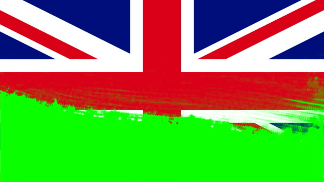 4k - 3 different paint brush style transition animation with united kingdom country flag - money politics stock videos & royalty-free footage