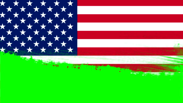 4k - 3 different paint brush style transition animation with united states country flag - wipe video transition stock videos & royalty-free footage