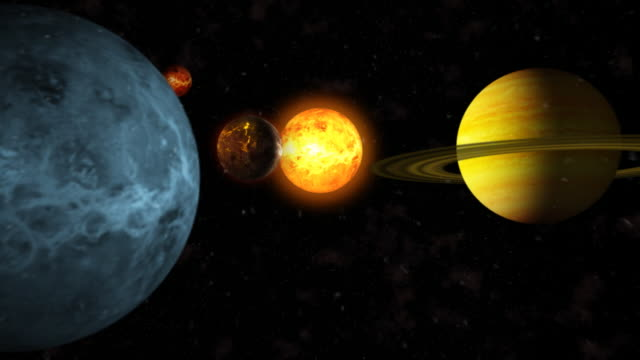 different planets nearby sun hd - solar system stock videos & royalty-free footage