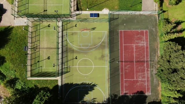 different sports courts as seen from above - organised group stock videos & royalty-free footage