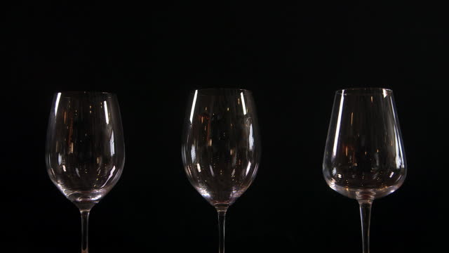 different types of wine glasses - nedtoning bildbanksvideor och videomaterial från bakom kulisserna