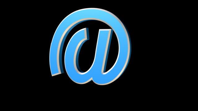 vídeos y material grabado en eventos de stock de siete diferentes versiones de email'a'símbolo que aparecen - símbolo de arroba