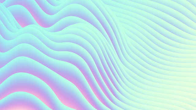 vídeos de stock e filmes b-roll de digital abstract flowing waves seamless loop animation - gradiente de cor