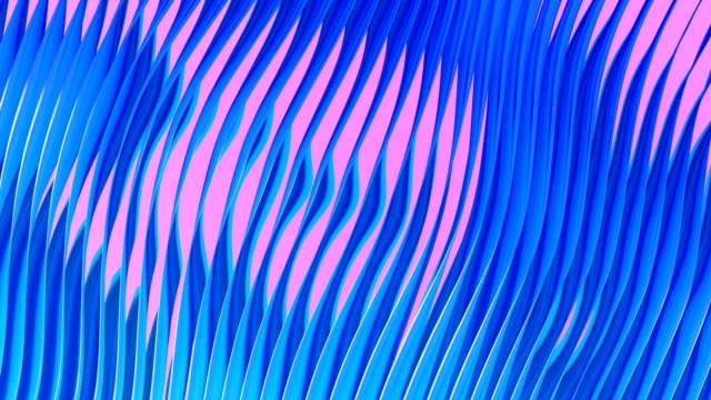 vídeos de stock e filmes b-roll de digital abstract flowing waves seamless loop animation - fluir