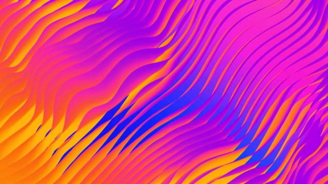 stockvideo's en b-roll-footage met digital abstract flowing waves seamless loop animation - bontgekleurd