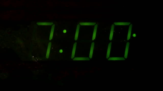 digital alarm clock counting down