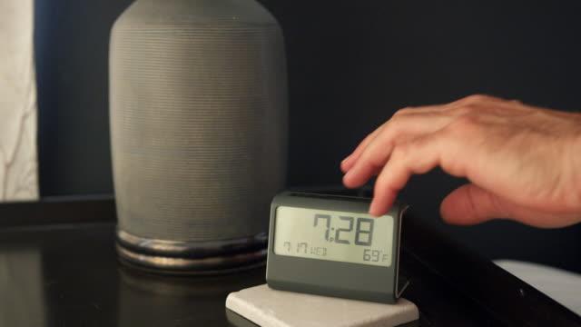 digital alarm clock - alarm clock stock videos & royalty-free footage