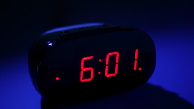 t/l, ms, digital alarm clock - digital clock stock videos and b-roll footage