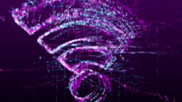 Digital animation of the sign of Wi-Fi communication, data transfer in the virtual space of the future. Abstract idea concept.
