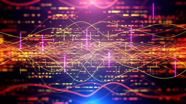 digital audio abstract equalizer seamless loop stock video - visual aid stock videos & royalty-free footage