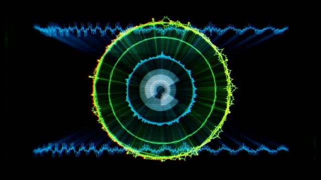 vídeos de stock e filmes b-roll de digital audio equalizer - representação gráfica