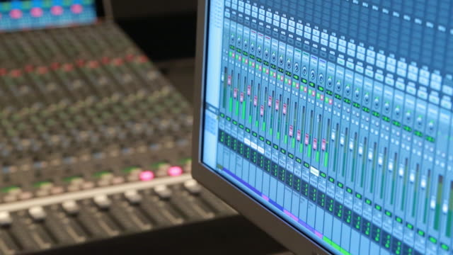 digital audio workstation, audio console - recording studio stock videos & royalty-free footage