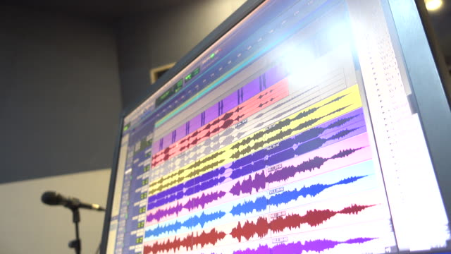digital audio workstation screen - frequency stock videos & royalty-free footage