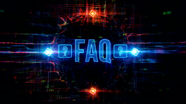 faq digital background - punctuation mark stock videos & royalty-free footage