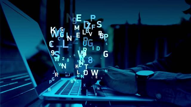 vidéos et rushes de fond de code binaire numérique 4k - nombre