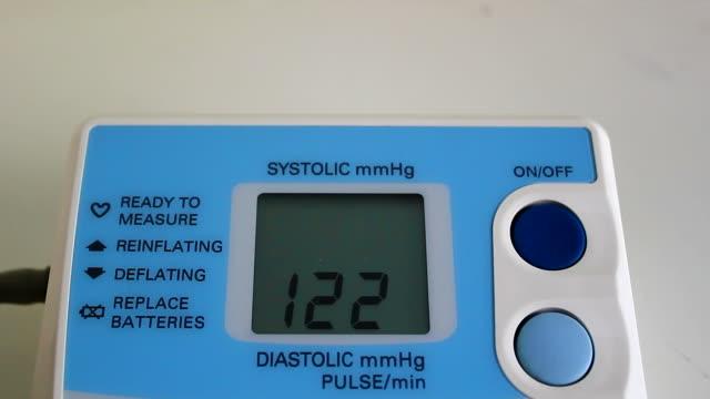 digital blood pressure meter - hypertension stock videos and b-roll footage