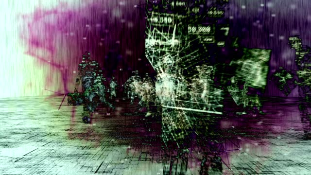 vídeos de stock e filmes b-roll de digital business silhouettes. - mapa múndi