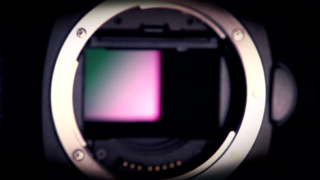 digital camera ccd sensor - mirror object stock videos & royalty-free footage