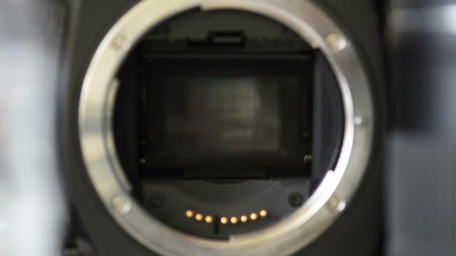 digital camera cmos sensor - camera photographic equipment stock videos and b-roll footage