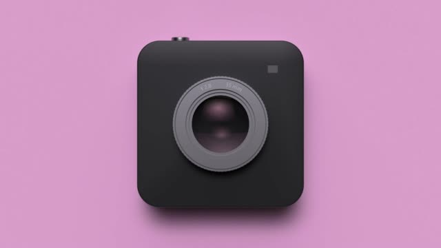 digital camera lens reflection abstract motion 3d rendering - square stock videos & royalty-free footage
