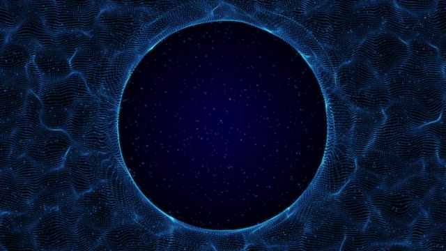 digital circle wire frame technology blue background - copy space stock videos & royalty-free footage
