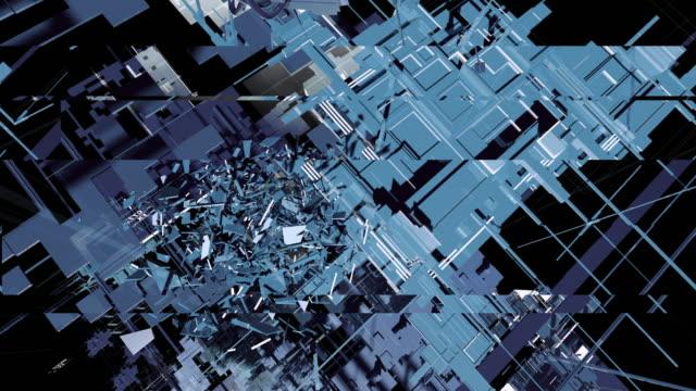 vidéos et rushes de modèle de ville numérique 3d. métal et verre - holographie