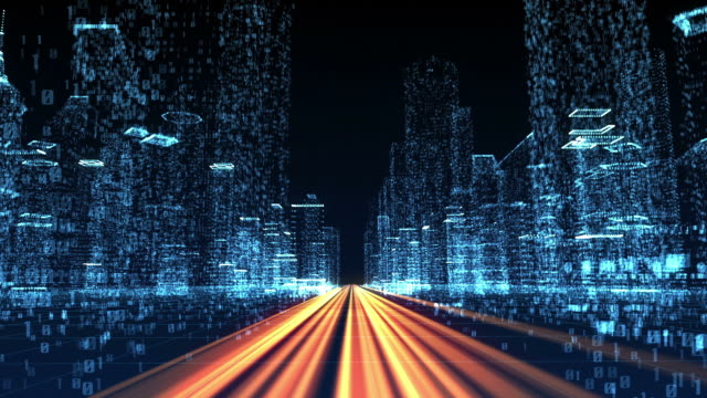 digital city - binary code stock videos & royalty-free footage