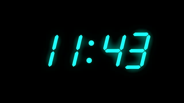 digital clock count 12h - full hd - lcd display - timer stock videos & royalty-free footage
