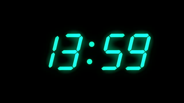 digital clock count 24h - full hd - lcd display - conto alla rovescia video stock e b–roll