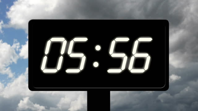 Digital clock count 24h